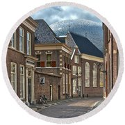 Old Meets New In Zwolle Round Beach Towel
