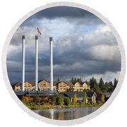 Old Mill District Round Beach Towel