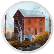 Old Mill Round Beach Towel