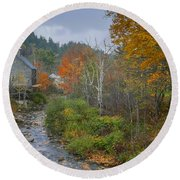 Old Mill New England Round Beach Towel