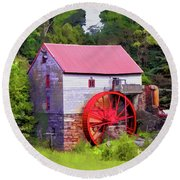 Old Mill Of Guilford Painted Square Round Beach Towel by Sandi OReilly