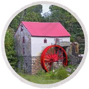 Old Mill Of Guilford Squared Round Beach Towel by Sandi OReilly