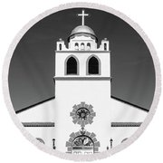 Round Beach Towel featuring the photograph Old Mission by SR Green