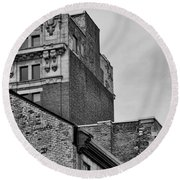Old Montreal Buildings  Round Beach Towel