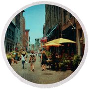Old Montreal - Quebec Round Beach Towel