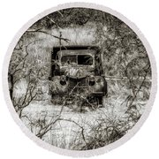Old N Forgotten Round Beach Towel by Elaine Malott