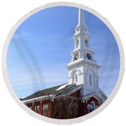 Old North Church, Portsmouth Round Beach Towel
