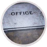 Old Office- Urban Photography By Linda Woods Round Beach Towel