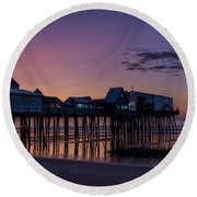 Old Orchard Beach  Round Beach Towel