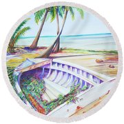 Old Paint Round Beach Towel