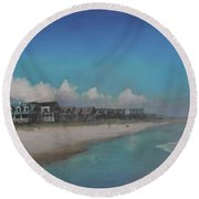 Old Pawleys Round Beach Towel by Blue Sky