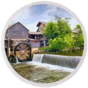 Old Pigeon Forge Mill Round Beach Towel