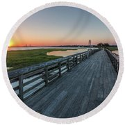 Old Pitt Street Bridge  Round Beach Towel