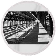 Old Railway Lines Of Jersey  Round Beach Towel