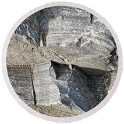 Old Rock Background Round Beach Towel