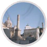 Old Rome Round Beach Towel