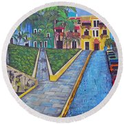 Old San Juan Round Beach Towel