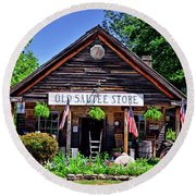 Old Sautee Store - Helen Ga 004 Round Beach Towel by George Bostian