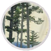 Old Settlers Round Beach Towel