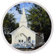 Old St. Andrew Church Round Beach Towel by Rick McKinney