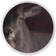 Old Stag Round Beach Towel