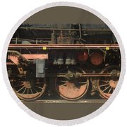 Old  Steam Train ...france Round Beach Towel