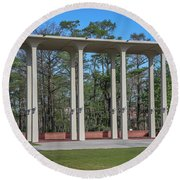 Old Student Union Arches Round Beach Towel
