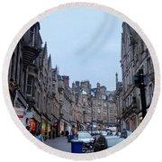 Old Town Edinburgh Round Beach Towel