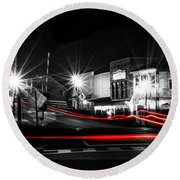 Old Town Helena At Night Round Beach Towel by Shelby  Young