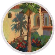 Old Town La Quinta Palm Round Beach Towel