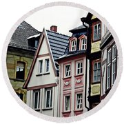 Old Town Mainz Round Beach Towel by Sarah Loft