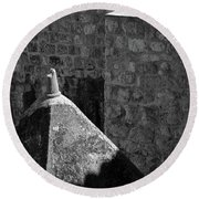 Old Town Walls Round Beach Towel