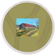 Old Turkey House Round Beach Towel by Jim Phillips