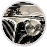 Citroen Traction Avant Round Beach Towel