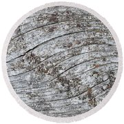 Old Weathered Wood Abstract Round Beach Towel
