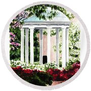 Old Well Chapel Hill Unc North Carolina Round Beach Towel