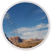 Old West Poles Round Beach Towel