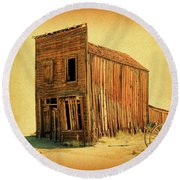 Round Beach Towel featuring the photograph Old West by Steve McKinzie
