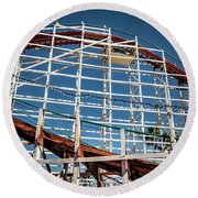 Round Beach Towel featuring the photograph Old Woody Coaster by T Brian Jones