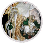 Old World Beauty Round Beach Towel