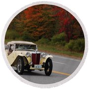 Round Beach Towel featuring the photograph Old Yeller 8168 by Guy Whiteley