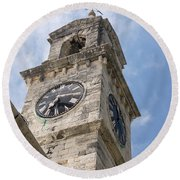 Olde Time Clock Round Beach Towel