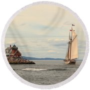 Olden Days Round Beach Towel