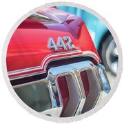 Olds 442 Classic Car Round Beach Towel by Mike Reid