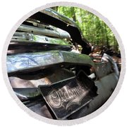 Oldsmobile Bumper Detail Round Beach Towel