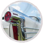Oldsmobile Tail Round Beach Towel by Helen Northcott