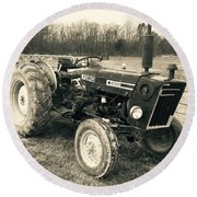 Ole' Country Tractor Round Beach Towel