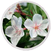Oleander Harriet Newding 3 Round Beach Towel