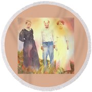 Olive, John And Anna Round Beach Towel