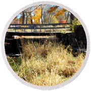 Oliver Mill Park Round Beach Towel by Catherine Gagne